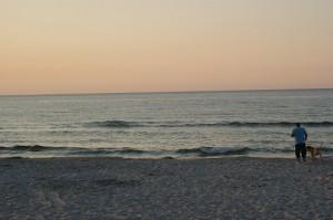 wieczorne ujęcie morza - Ostrowo