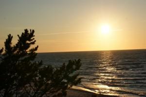 Zachód słońca nad morzem - Ostrowo